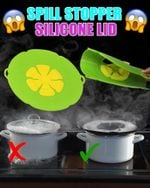 Spill Stopper Silicone Lid - LimeTrifle