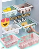 Refrigerator Partition Storage Rack - LimeTrifle