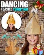Dancing Roasted Turkey Hat - LimeTrifle