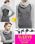 Sleeve Wrap Scarf - LimeTrifle