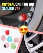 Crystal Car Tire Air Sealing Cap (Set of 4) - LimeTrifle