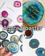 Natural Agate Stone Coaster - LimeTrifle