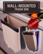 Wall-Mounted Foldable Trash Bin - LimeTrifle