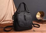 Two-Way Leather Handbag - LimeTrifle