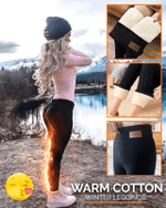 Warm Cotton Winter Leggings - LimeTrifle
