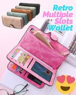 Retro Multiple Slots Long Wallet - LimeTrifle