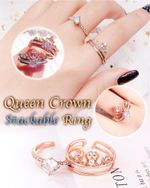 Queen Crown Stackable Ring - LimeTrifle
