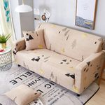 Universal Sofa Elastic Printed Cover - LimeTrifle