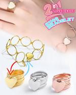 Magic 2-in-1 Love Heart Ring Bracelet - LimeTrifle
