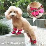 Adjustable Non-Slip Pets Shoes Cover (4 PCS)