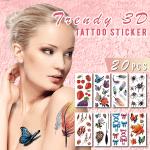 Trendy 3D Tattoo Stickers (20PCS)