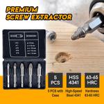 Premium Screw Extractor (Set of 5)