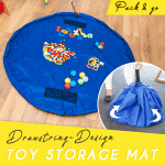 Drawstring-Design Toy Storage Mat