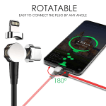 180° Magnetic Ring Charging Cable (with 2 Ports)