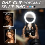 One-Clip Portable Selfie Ring