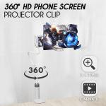 360° HD Phone Screen Projector Clip
