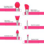 6Pcs/set Professional Silicone Makeup Brush