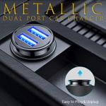 Metallic Dual Port Car Charger