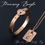Promising Love Locked Bangle Set