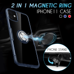 2 in 1 Invisible Magnetic Ring IPhone Case