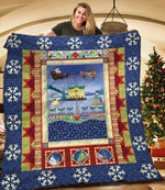 A Village Christmas TNT181112NH Quilt Blanket