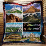 7 Wonders Of The World CL22100001MDQ Quilt Blanket