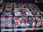 A Stained Glass Garden CLA2210005Q Quilt Blanket