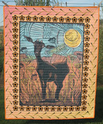 Abstract Black Goat CLT270601 Quilt Blanket