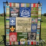 A Real Scout Knows What Counts PK290501 Quilt Blanket