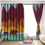 Bear Blackout Thermal Grommet Window Curtains LML230620HT