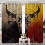 Bison Medicine Wheels Native American GS-CL-LD0804 Blackout Thermal Grommet Window Curtains