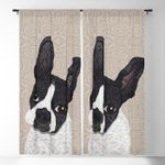 Boston Terrier Blackout Thermal Grommet Window Curtains LML020721CL