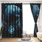 Bear Blackout Thermal Grommet Window Curtains LML230621HT