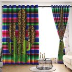 Cactus Blackout Thermal Grommet Window Curtains LML010741HT