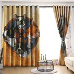 Boston Terrier Blackout Thermal Grommet Window Curtains LML220601HT