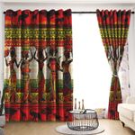 Africa Blackout Thermal Grommet Window Curtains C9B160604PT
