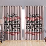 Baseball Blackout Thermal Grommet Window Curtains BBB240312DB