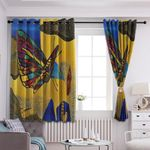Butterfly Blackout Thermal Grommet Window Curtains HHH250722TN