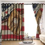 Baseball Blackout Thermal Grommet Window Curtains C9B010701DL