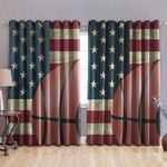 Baseball American Blackout Thermal Grommet Window Curtains DTH220603HD
