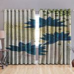 Beautiful Blue Lotus GS-CL-KL0903 Blackout Thermal Grommet Window Curtains