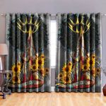 Black Girl Blackout Thermal Grommet Window Curtains BBB250625NB