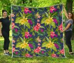 Aloha Hawaiian Flowers CL17100022MDQ Quilt Blanket #85914