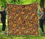 Abstract Sunflower CL17100016MDQ Quilt Blanket
