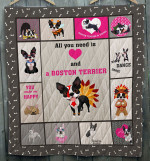 All I Need Is Boston Terrier Quilt Blanket Dhc09121715Dd