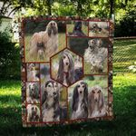 Afghan Hound Beauty CL09100001MDQ Quilt Blanket