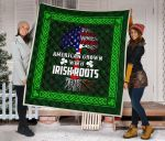 American Grown With Irish Roots Quilt Blankets Best Gift Ideas For Saint Patricks Day Dhc09121345Dd