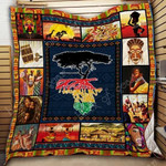 African Roots CL19100010MDQ Quilt Blanket
