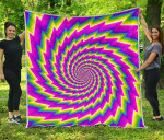Abstract Twisted Moving Optical Illusion CL17100017MDQ Quilt Blanket #36361