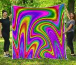 Abstract Neon Trippy CL17100011MDQ Quilt Blanket #99974